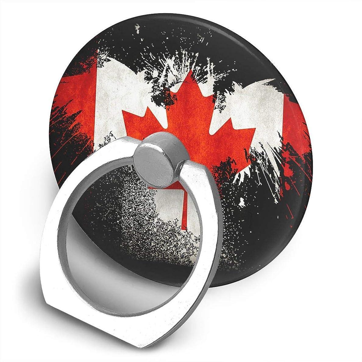 少ない入り口理由カナダ国旗イーグル 360度回転 携帯リング スタンド スマホスタンド ホルダー 薄型 指輪 リング 携帯アクセサリースタンド機能 落下防止