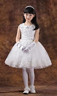 子供ドレス 発表会 d-002 ウエディングドレス 高級ドレス 上質の子供ドレス上質なオーガンジー素材ドレス ワンピース 子供 かわいい ノースリーブ ガールズ ワンピース?チュニック 華やかなワンピース?ドレス 女の子 おしゃれ ホワイト