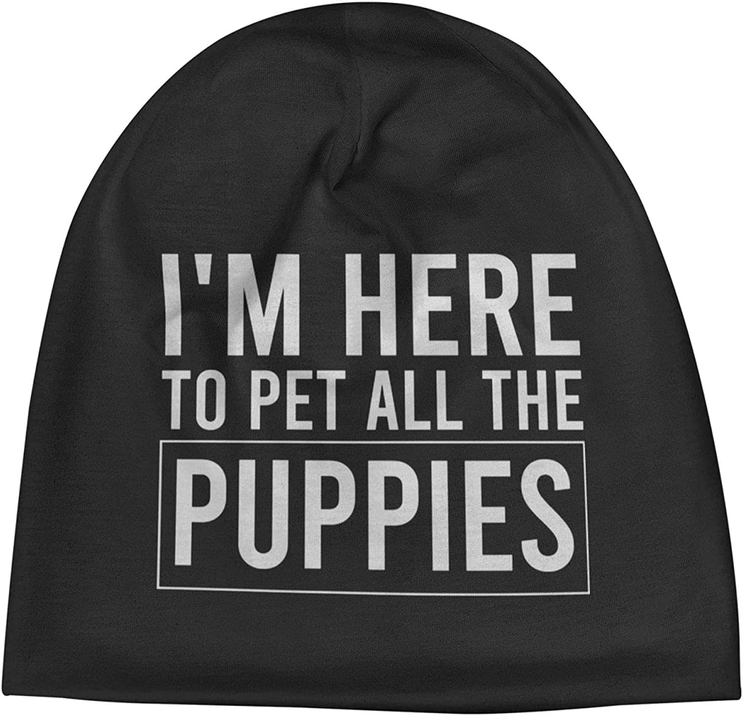 I'm Ranking TOP19 Here to Pet All The Puppies Cap Warm Unisex Ha Slogan Super Special SALE held Beanie