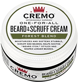 Cremo Beard & Scruff Cream, Improved Forest Blend Fragrance, Moisturizes, Styles And Reduces Beard Itch For All Lengths Of Facial Hair, 4 Ounces