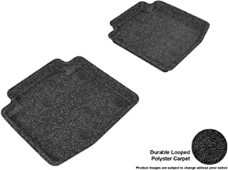 3D MAXpider Second Row Custom Fit All-Weather Floor Mat for Select Buick LaCrosse Models - Classic Carpet (Black)