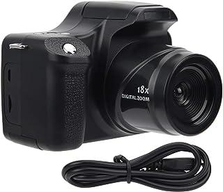 Hd-Spiegelreflexkamera mit 18-Fachem Zoom, 24MP Tragbare Digitalkamera mit Langer Brennweite, 3,0-Zoll-LCD-Bildschirm USB-Anschluss zum Aufladen Geeignet für Familienfeiern im Freien Reisen(1)