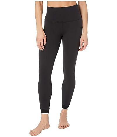Beyond Yoga Crossed For Words High Waisted Midi Leggings (Jet Black) Women