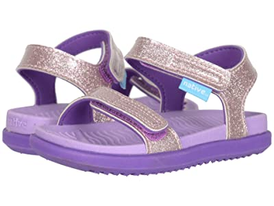 Native Kids Shoes Charley Glitter (Toddler) (Lavender Purple Glitter/Starfish Purple) Girl