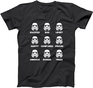 Storm Trooper Emotions Funny Geek Nerd Sci-Fi Thriller Emoticons Stormtrooper Humor Mens Shirt