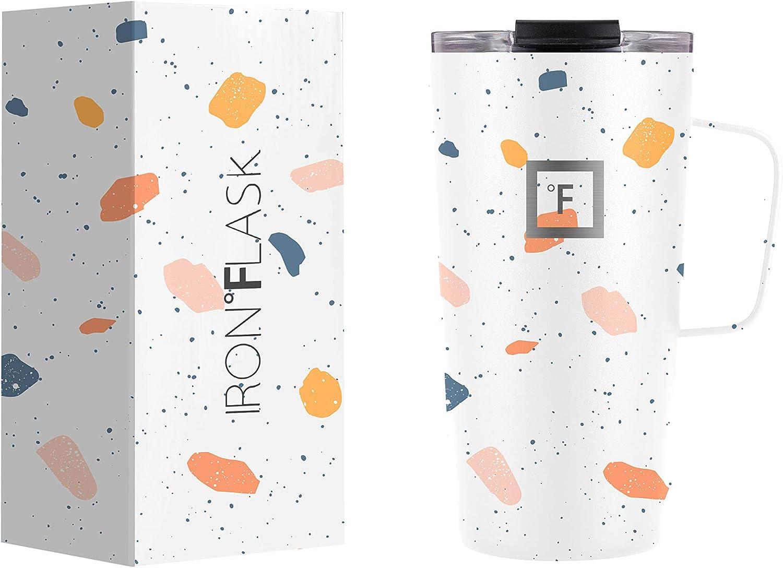 IRON °FLASK Grip National uniform free shipping Coffee Mug - Oz Vacuum Leak 16 Proof Product Insul