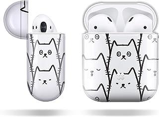 【Casestudi】AirPods ケース カバー ハード 製 ハードケース ワイヤレス充電 対応 耐衝撃 特製ポーチ 付 猫 Cat 収納ケース 防水 防塵 キズ防止 ガラス光沢 ファッション おしゃれ デザイン [ エアーポッズ / MMEF2J/A(第1世代)/ MRXJ2J/A(第2世代)]