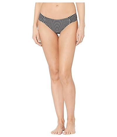 La Blanca Pinstripes Side Shirred Hipster Bottoms (Black/White) Women
