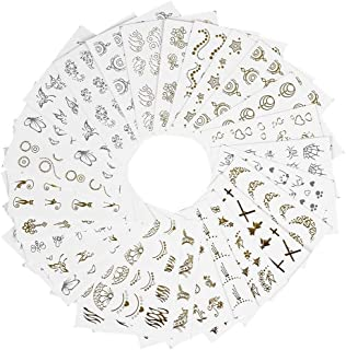 ネイルシール ウォーターネイルシール ネイルステッカー セルフネイル 混合 バタフライ 花柄 ゴールド DIY 貼り紙 ジェルネイル用品 アクセサリー レディース 30枚セット