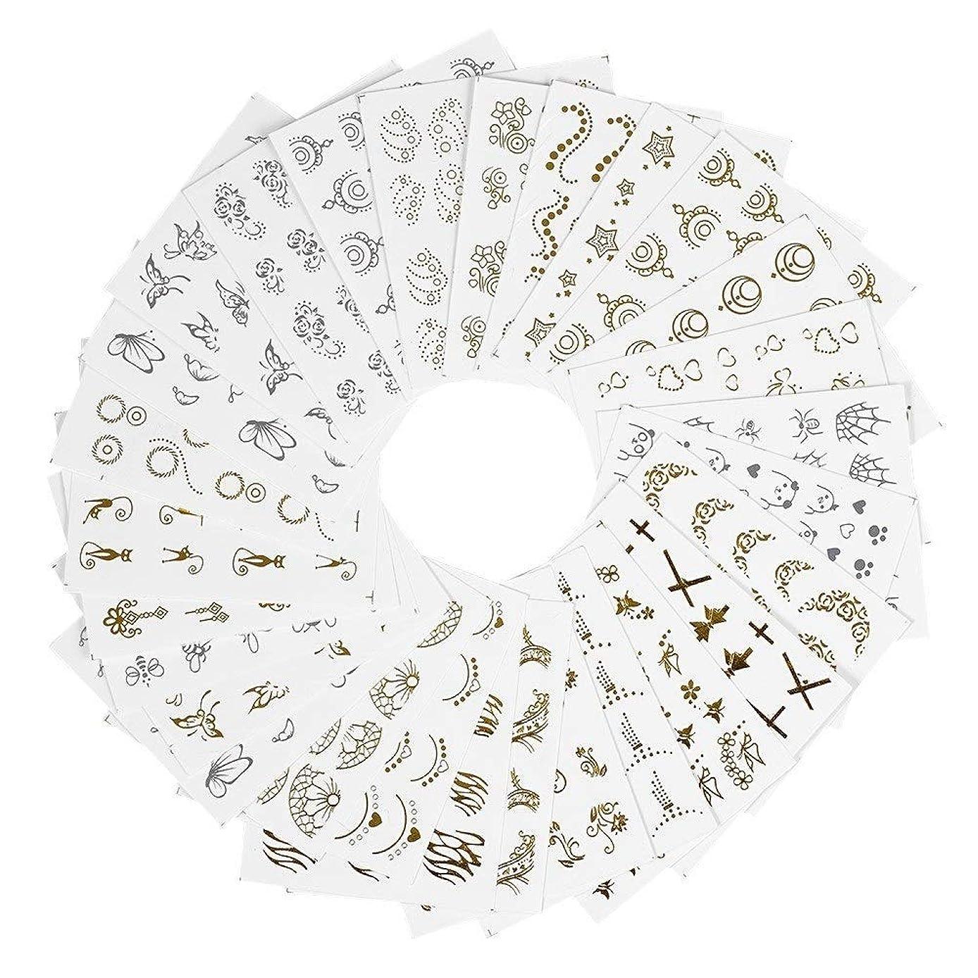 優れました蒸気割り当てるビューティフル 女性 30枚セット DIY かわいい ネイルシール ウォーターネイルシール ジェルネイル セルフネイル レジン 混合 バタフライ 花柄 ゴールド シルバー 貼り紙 綺麗 ジェルネイル用品 ネイルパッチ レディース