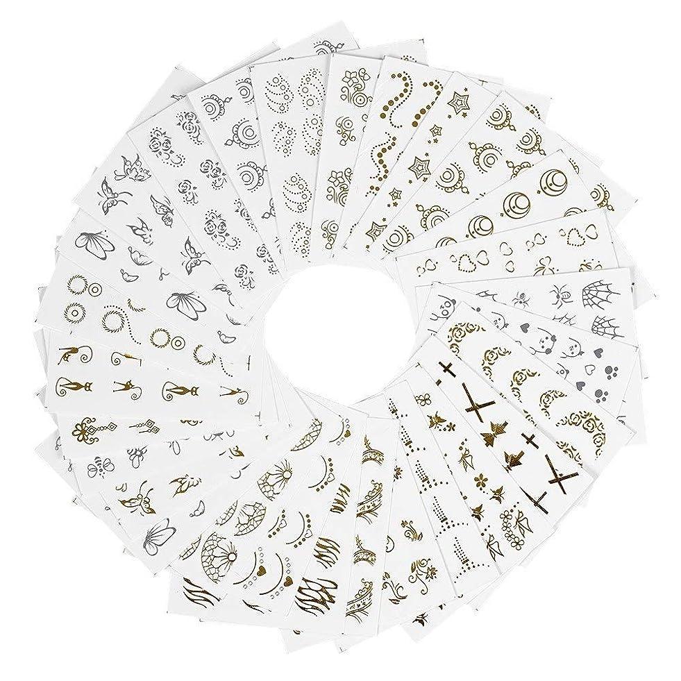 評価マーキングまた明日ねネイルパーツ ネイルシール ウォーターネイルシール ネイルステッカー セルフネイル 混合 バタフライ 花柄 ゴールド DIY 貼り紙 ジェルネイル用品 アクセサリー レディース 30枚セット ハンドメイド材料