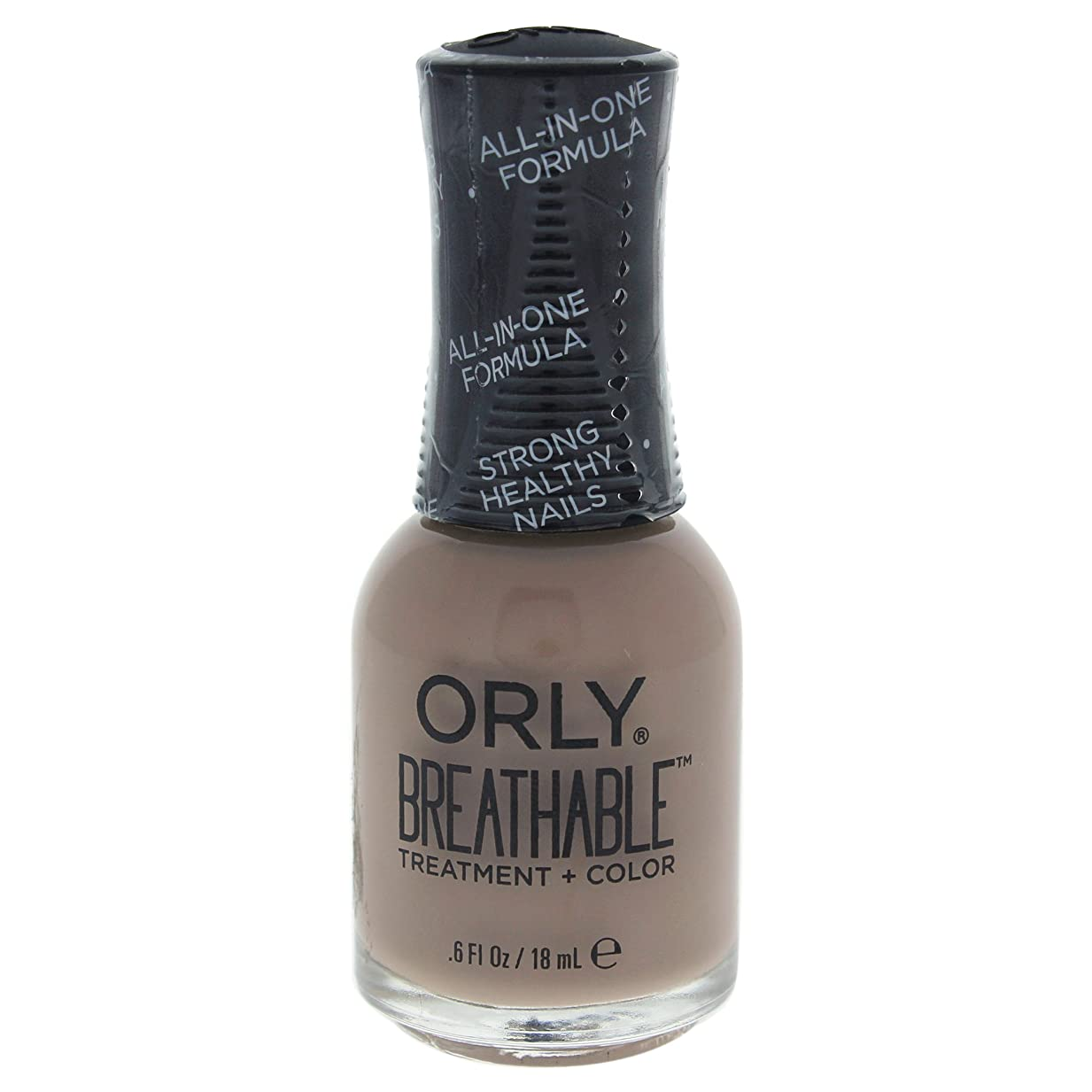 汚い尽きる脱臼するOrly Breathable Treatment + Color Nail Lacquer - Down To Earth - 0.6oz / 18ml