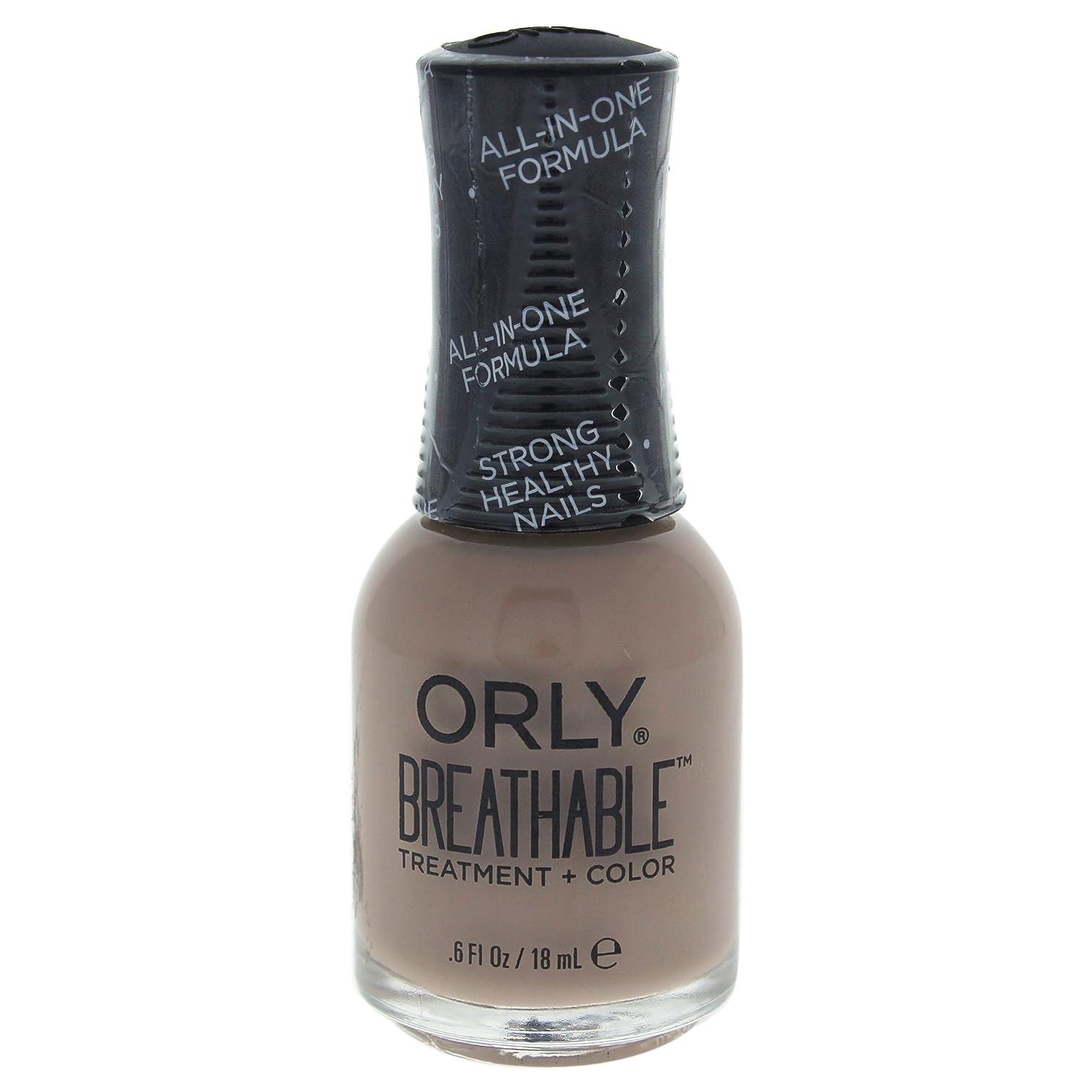 魅力中止します塊Orly Breathable Treatment + Color Nail Lacquer - Down To Earth - 0.6oz / 18ml