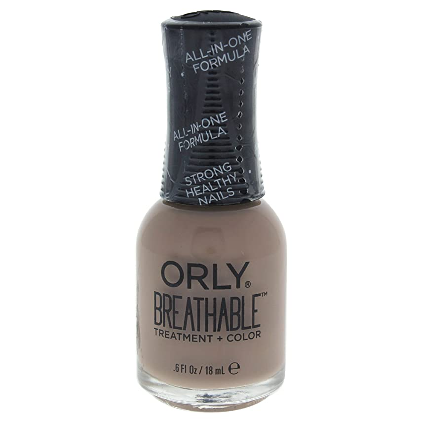 褐色ブレス身元Orly Breathable Treatment + Color Nail Lacquer - Down To Earth - 0.6oz / 18ml
