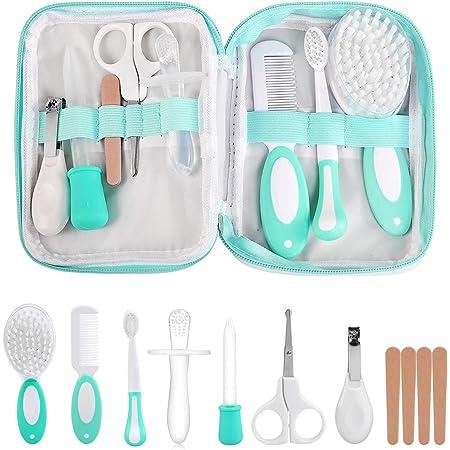 LinStyle Set para Cuidado del Bebé, 8 Piezas Kit de Manicura, Kit de Aseo para Bebés, Accesorios Bebe para Viaje y el Uso Diario, Regalos para Bebes