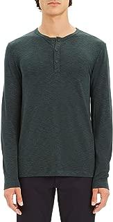 Theory Men's Anemone Snap-Placket Henley Shirt Dark Green Large
