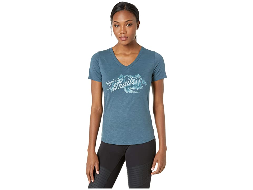 United By Blue Tough As Trails Short Sleeve Graphic Tee (Orion Blue) Women