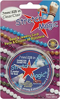 Pepperell SMF-1-5 0.7mm Stretch Magic Bead and Jewelry Cord, 5m, Clear