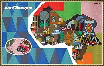 Air Afrique (artist: Georget, Guy) France c. 1950 - Vintage Advertisement 65136 (12x18 SIGNED Print Master Art Print - Wall Decor Poster)