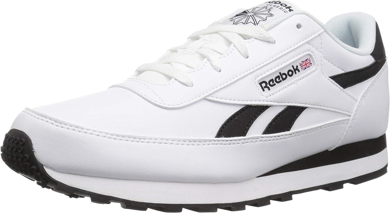 Reebok Hommes's Classic Renaissance en marchant chaussures, Us-blanc noir, 5 M US