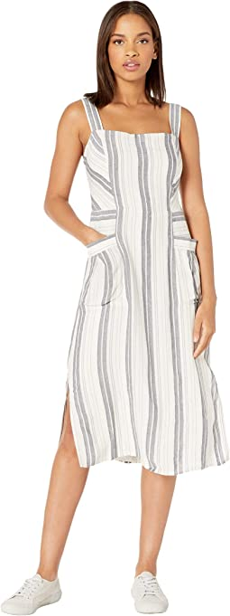 Striped Pocket Midi Dress