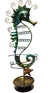 Bejeweled Display® Seahorse Bracelet ,Ring, Necklace & Earring Holder Combo Jewelry Display Gift Box