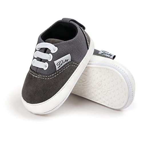c5724840eb7 Meckior Infant Baby Boys Girls Canvas Toddler Sneakers Rubber Anti-Slip  First Walkers Candy Shoes