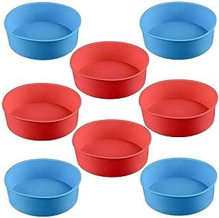 WENTS Molde de silicona para tartas de 4 pulgadas (10,2 cm), diseño redondo