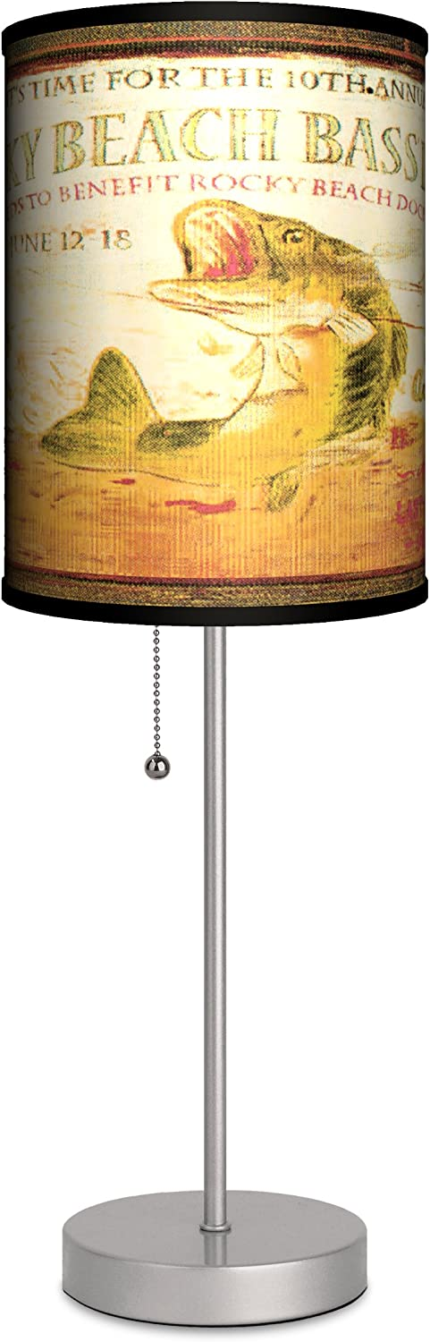Lamp-In-A-Box Fashionable Vintage Fishing Derby Sport Lamp Dedication Bedroom Table for