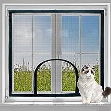 Universeel vliegenvenster scherm gaas met ritssluiting,Beschermend net voor kat,Insect venster gordijngaas, Houd insecten ...