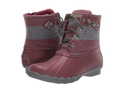 Sperry Saltwater Varsity Stripe Wool (Wine/Grey) Women