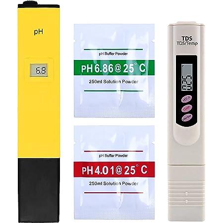 "Shapure Ph & Tds Meter Combo with ±0.1Ph 0.6"" LCD Mini Digital Pen Style Ph-Meter Set"