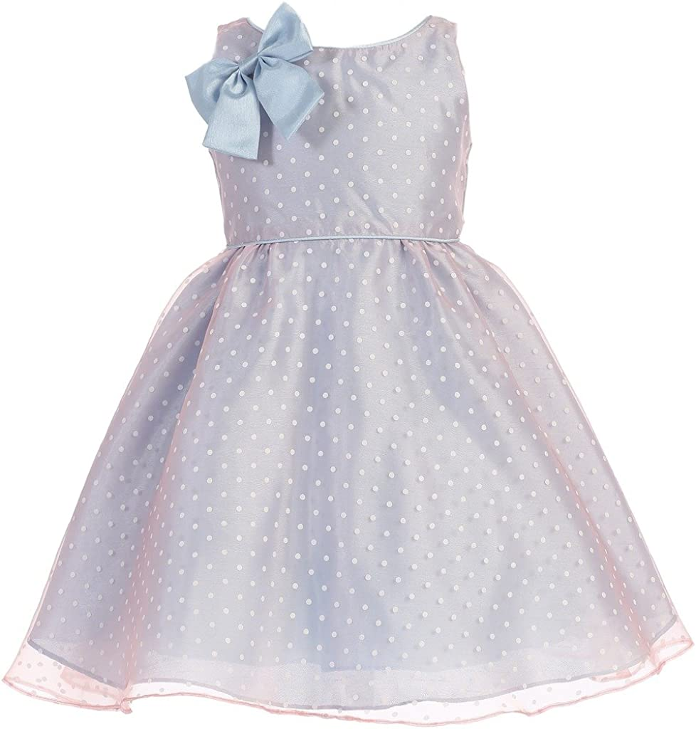 iGirldress Max 84% OFF Little Girls' Darling Two Dot Polka Tone Gown Special price for a limited time