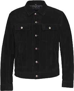 Men/'s Army Bomber Jacket Black Fur Collar REAL HIDE SKIPPER LEATHER 2836