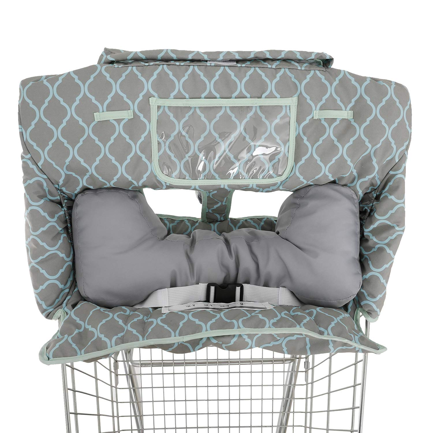 Soft Backrest Attached 2-in-1 Shopping Cart and High Chair Covers for Baby~Fold'n Roll Style~Portable with Free Carry Bag