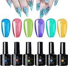 FIGHTART Jelly Jel Gel Polish Set Crystal Rainbow Summer 6 Bottles 10 ml Soak Off UV LED