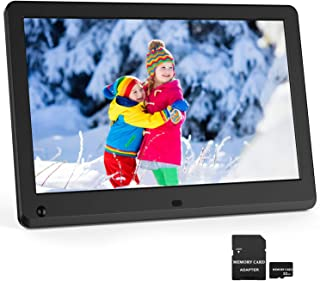 Digital Picture Frame 12 Inch 1920x1080 16:9 IPS Screen Photo Auto Rotate, Motion Sensor, 1080P Video Frame, Auto Play Photo/Video/Music, Background Music, Auto Turn On/Off, Include 32GB SD Card