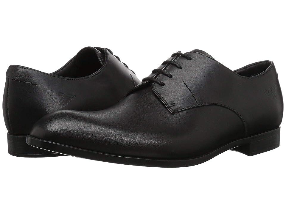Emporio Armani Light Calf Oxford (Black) Men