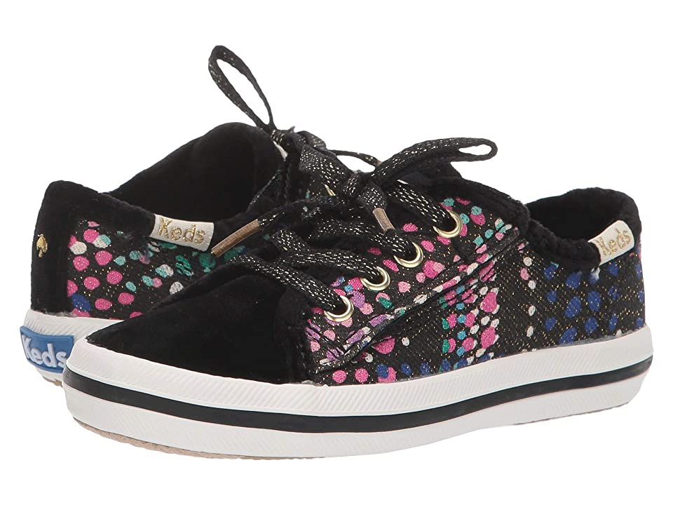 Keds x kate spade new york Kids Kickstart Seasonal Toe Cap (Toddler/Little Kid) (Dotty Plaid Velvet) Girls Shoes
