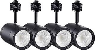 LEONLITE 4-Pack 17.5W (85W Eqv.) Integrated CRI90+ LED Black Track Light Head, Dimmable 38° Spotlight Track Light, 1200lm Energy Star & ETL Listed for Wall Art Exhibition Lighting, 4000K Cool White
