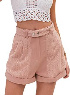 Miessial Women's Summer Shorts High Waisted Casual Comfy Shorts