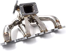 Exhaust Manifold Center Mount T3 Equal Length for Ford Mustang SVO Thunderbird Turbo Coupe 2.3L Turbocharged