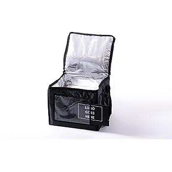 Borsa di raffreddamento XXL NERO per BOTTIGLIE 36 x28 x16 cm isolato ceneri bottiglie ISO BWI