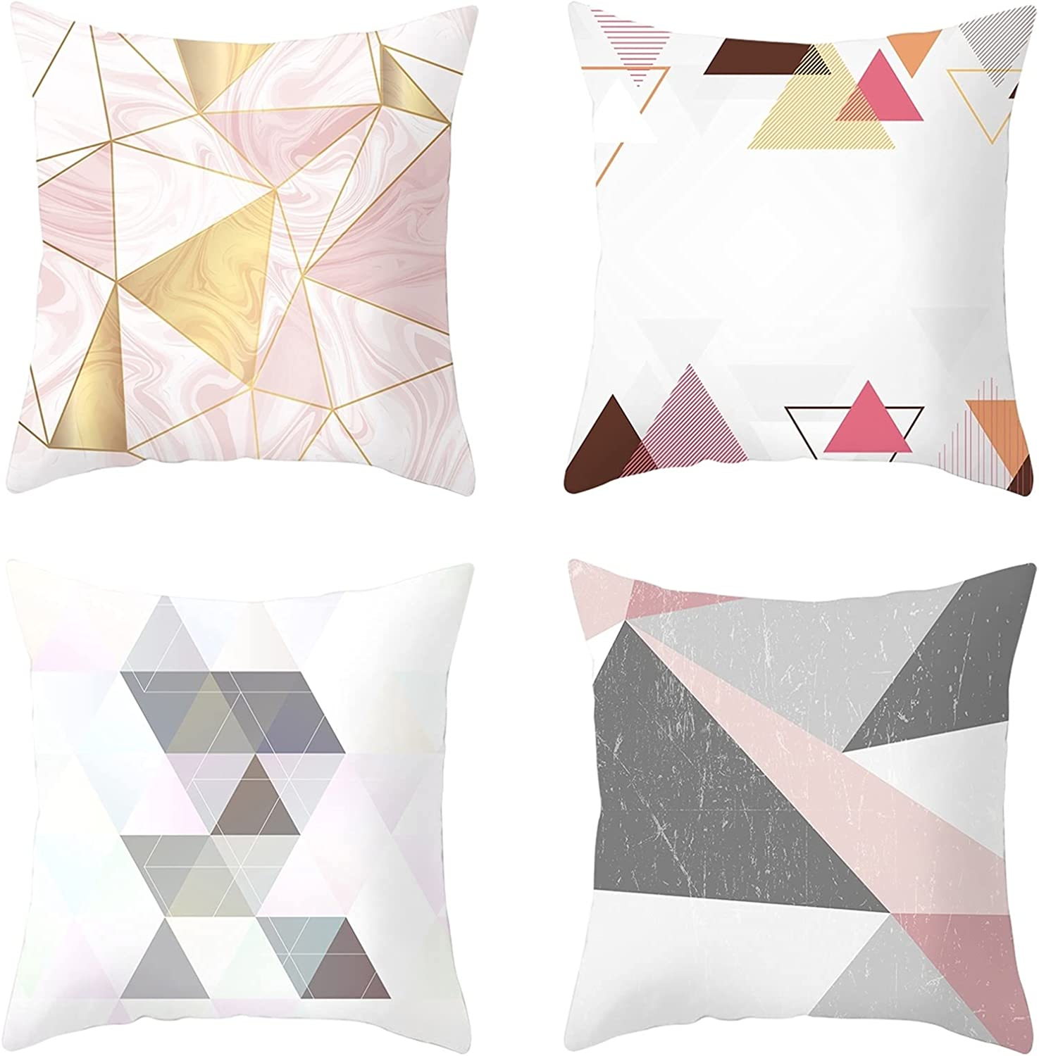 Daesar Throw Pillow Covers for Kids White Pin Pillowcase 4 Pack Large discharge sale Cheap mail order shopping