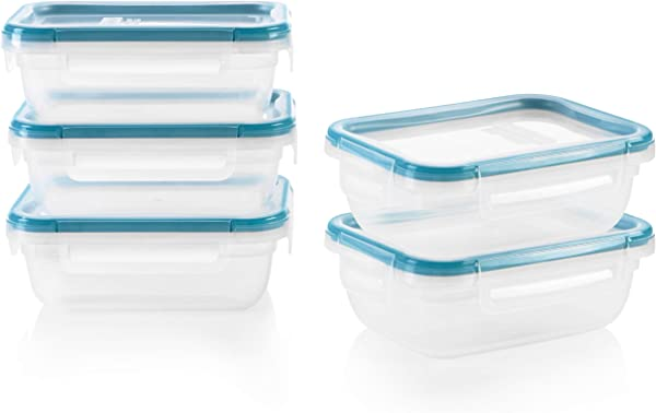 Snapware 1136622 SN TS 10pc Rect Plast Meal Prep Kit 10 Pieces