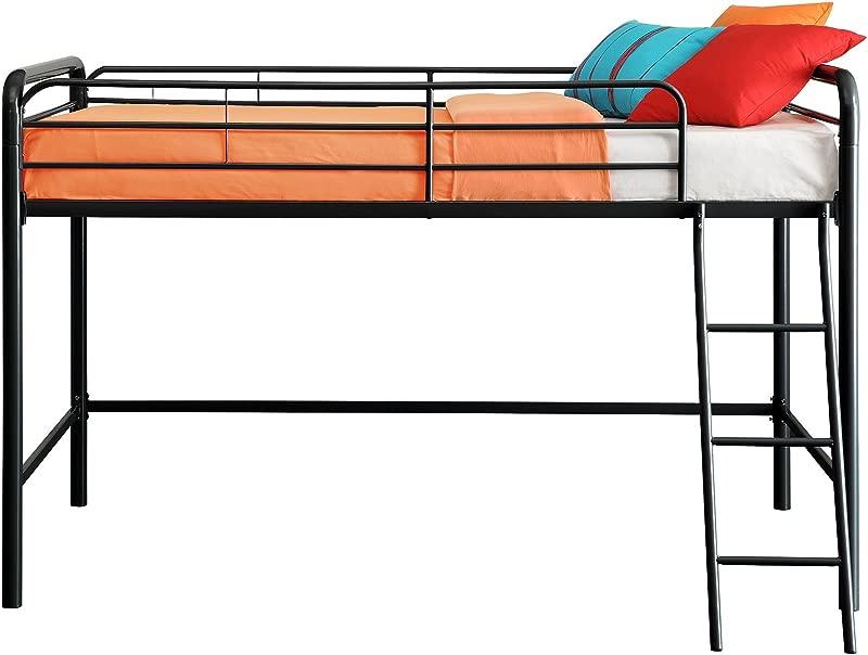 DHP Junior Loft Bed Frame With Ladder Black