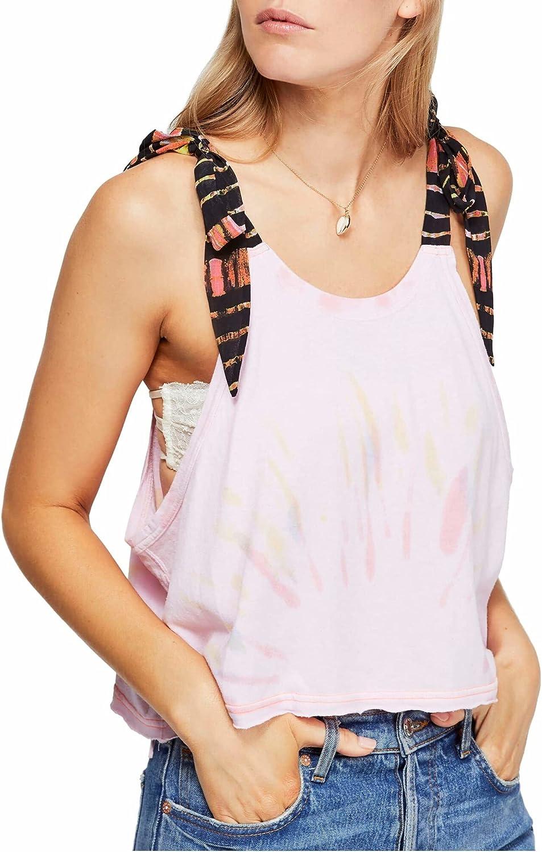 Free People Womens KOA Tie Dye Cropped Tank Top
