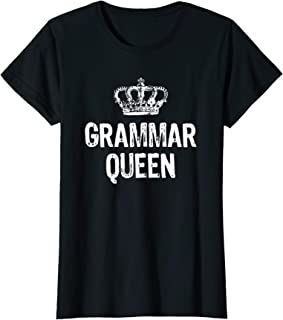 grammar queen t shirt