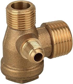 r/éservoir /à pression dair et tuyau de pompe /à piston Clapet anti-retour en laiton /à 90 degr/és pour compresseur dair femelle 1//2 x 1//2 x 1//8
