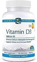 Nordic Naturals Pro Vitamin D3, Orange - 1000 IU Vitamin D3 - 120 Mini Soft Gels - Supports Healthy Bones, Mood & Immune S...